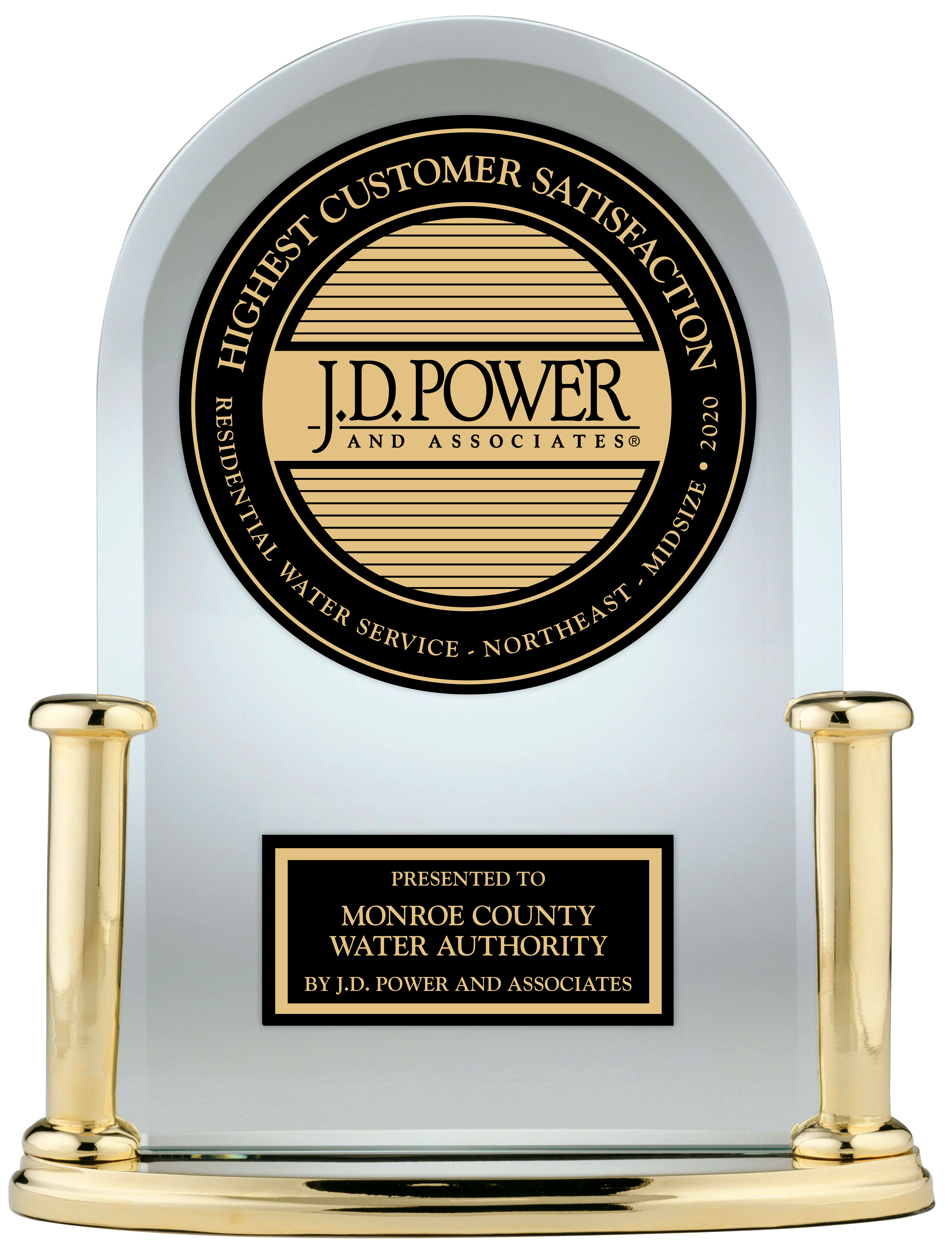 JD Power Award trophy