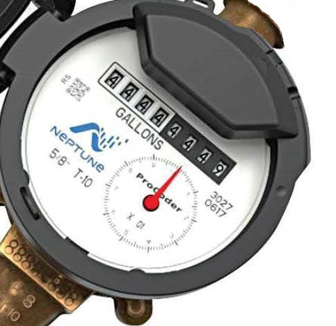Analog water meter picture