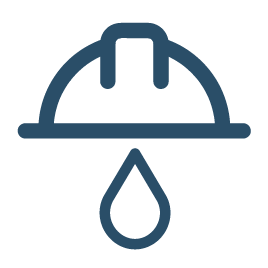 Water drops from hardhat showing Employment Vacancies