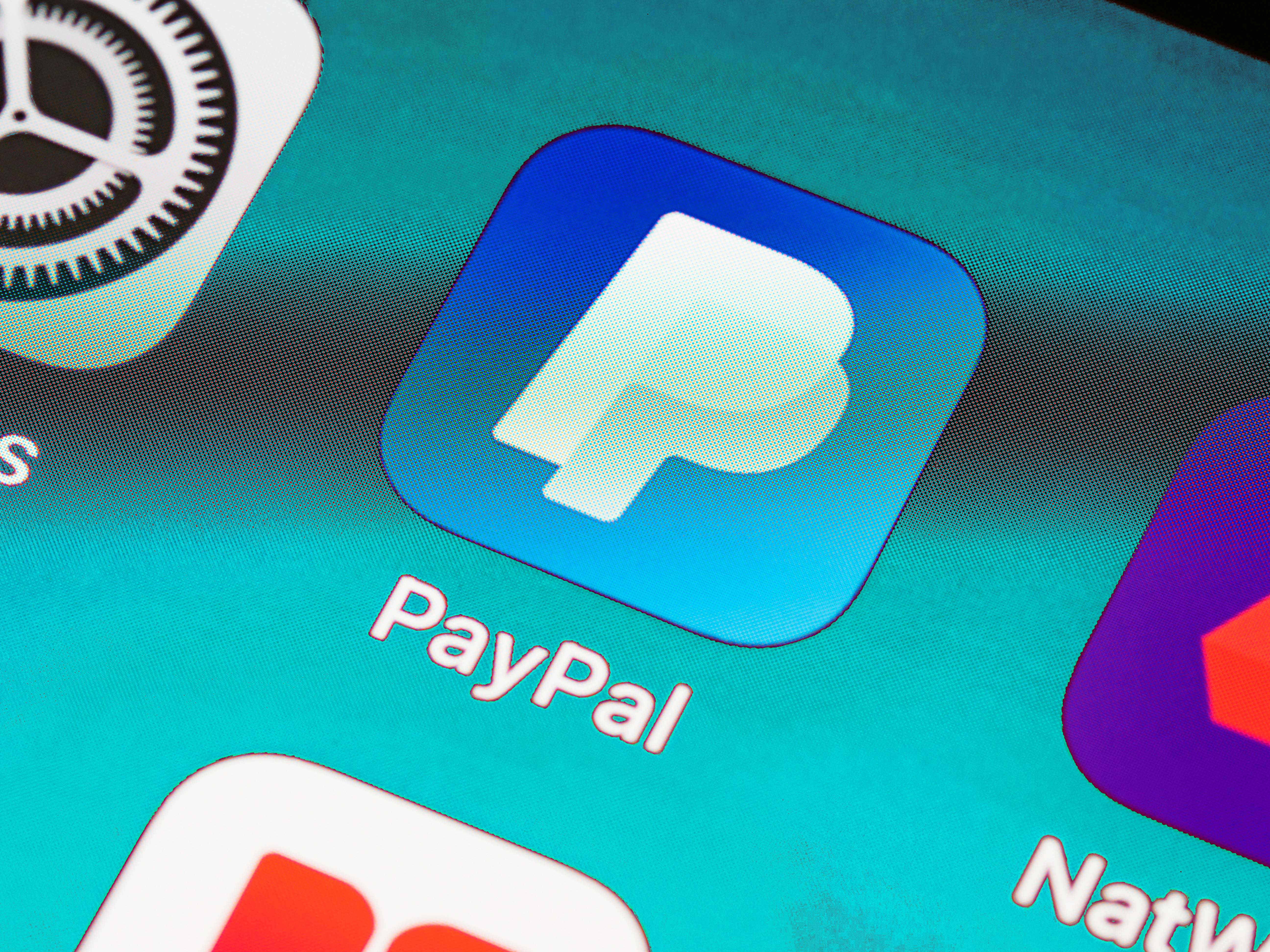 PayPal icon on phone