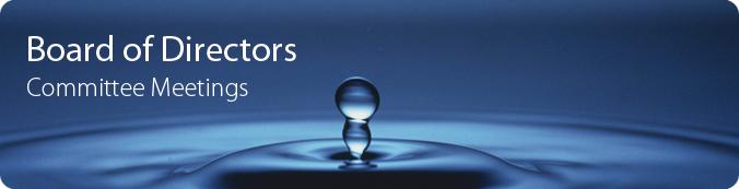 Board of Directors Committee Meetings banner - two water drops emerging from splash.