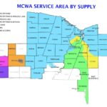 Monroe County Water Authority Service Area By Supply map