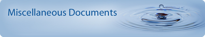 Miscellaneous Documents Banner - water bubble rising from splash.